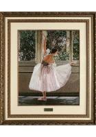 Вышитая картина «Балерина у окна»