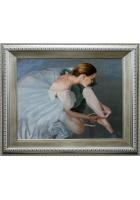 Шелковая картина «Балерина»