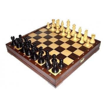 Шахматы классические деревянные с утяжелителем. Доска 43х43 см