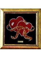 Картина «Два сердца с лентой»