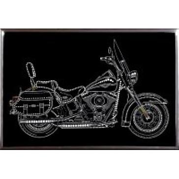 Картина из кристаллов Сваровски «Мотоцикл»