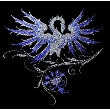 Картина из кристаллов Сваровски «Синяя птица»
