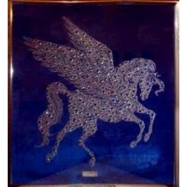 Картина из кристаллов Сваровски «Пегас»