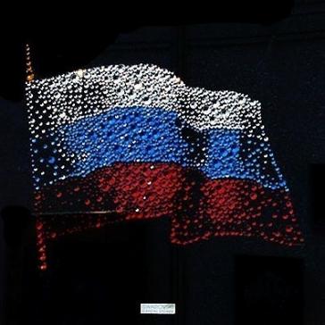 Картина из кристаллов Сваровски «Флаг России»