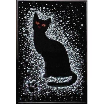 Картина Сваровски «Кошка в снегу»