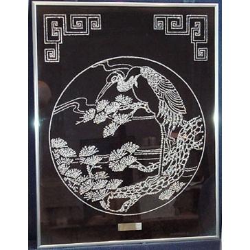 Картина из кристаллов Сваровски «Цапля»