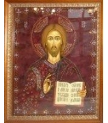Икона «Господь Вседержитель», Swarovski