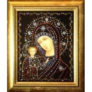 Икона с кристаллами Сваровски «Богоматерь Владимирская»