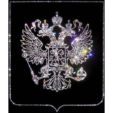 Картина Сваровски «Герб России»