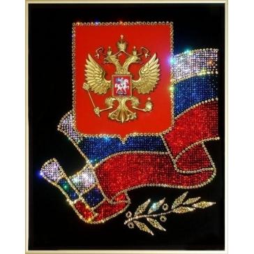 Картина Сваровски «Российская символика»