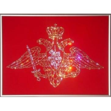Картина Сваровски «Эмблема вооруженных сил России»
