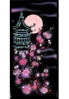 Картина «Пагода с сакурой»