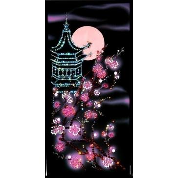 Картина Сваровски «Пагода с сакурой»