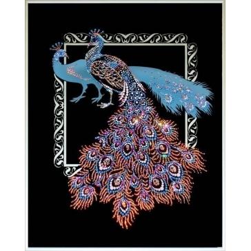 Картина Сваровски «Павлины к удаче»