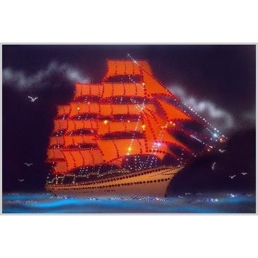 Картина из страз Сваровски «Алые паруса»