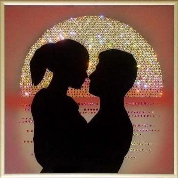 Картина Сваровски «Рассвет любви»