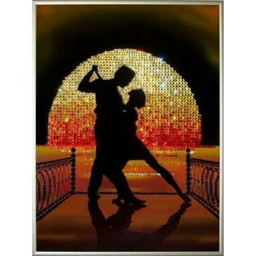 Картина Сваровски «Танго на пирсе»