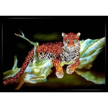 Картина Сваровски «Ягуар»