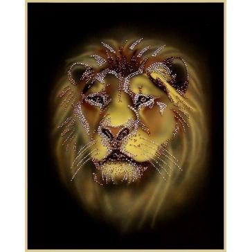 Картина Сваровски «Лев»
