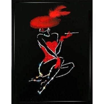 Картина Сваровски «Леди в красном»