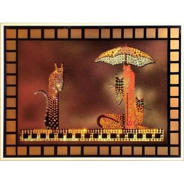 Картина Сваровски «Кошки»