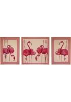 Картина модульная «Фламинго»