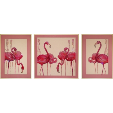 Модульная картина Сваровски «Фламинго»