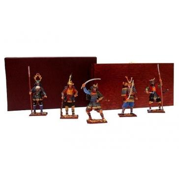 Оловянные миниатюрные фигурки «Самураи»