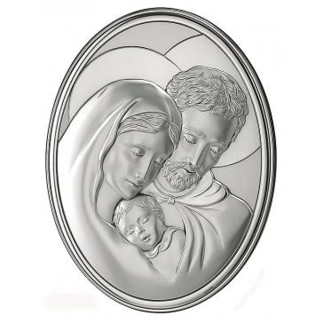 Подарочное панно посеребренное «Святое семейство»