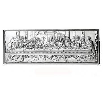 Подарочное панно посеребренное «Тайная вечеря»