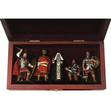 Оловянные миниатюрные фигурки «Русские витязи»