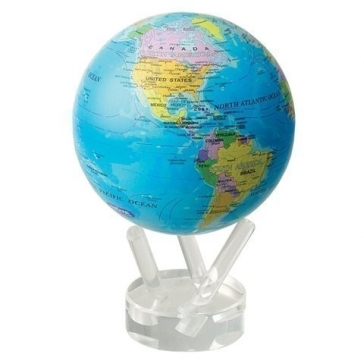 Глобус настольный самовращающийся большой с политической картой мира