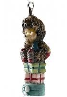 Елочная игрушка «Ежик на подарках»