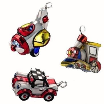 Набор елочных игрушек «Веселые машины»