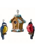 Набор елочных игрушек «Птички»