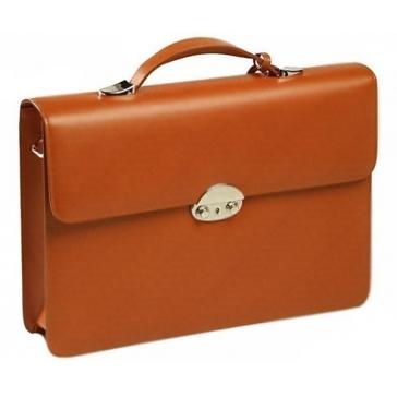 Кожаный портфель с одним отделением