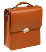 Кожаный портфель с одним отделением (вертикальный)