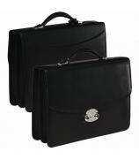 Кожаный портфель с двумя отделениями