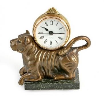 Часы из бронзы «Тигр»