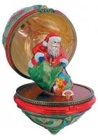 Шкатулка музыкальная «Дед Мороз с мешком подарков»