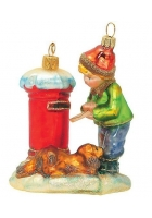 Елочная игрушка «Мальчик отправляет письмо»