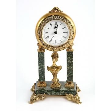 Часы из бронзы «Дама»