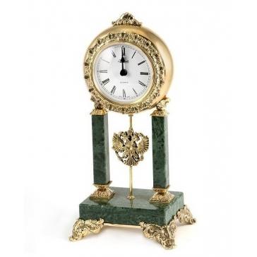 Настольные часы из бронзы «Герб России»