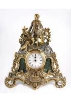 Бронзовые часы «Охотничьи трофеи»