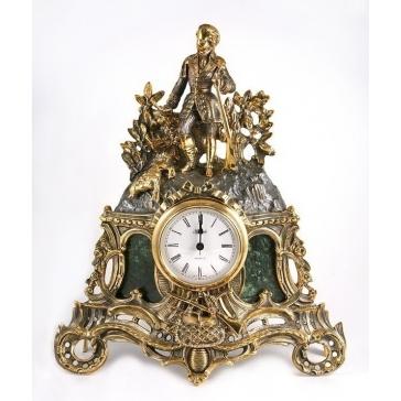 Каминные часы из бронзы «Охотничьи трофеи»