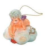 Елочная игрушка «Амур на облаке»