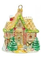 Елочная игрушка «Дом с ёлочками»