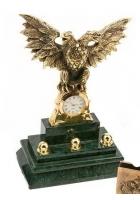 Бронзовые часы «Двуглавый орел»