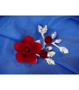 Фарфоровый цветок «Красная роза»