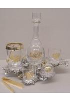 Набор для виски с позолотой
